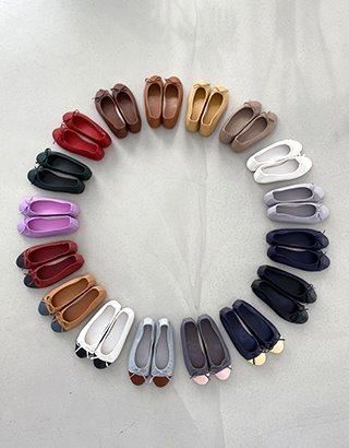 피팅세일) [made prostj] PLANG Flat shoes (17colors) 230