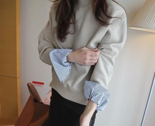 소매 스웨트 셔츠(3colors)